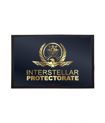 United Nations Interstellar Protectorate Doormat Printed Welcome Mat Inspired by Altered Carbon